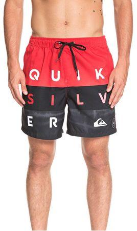 77db633205 Quiksilver Pánske kúpacie kraťasy Word Block Volley 17 High Risk Red  EQYJV03405-RQC6 (Veľkosť
