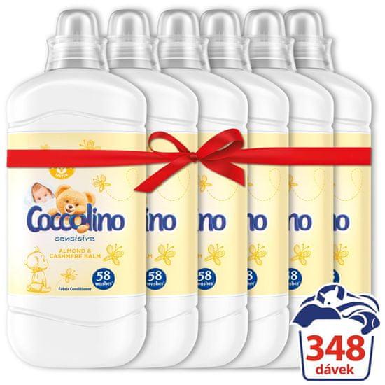 Coccolino Sensitive Cashmere & Almond aviváž 6 x 1,45 l