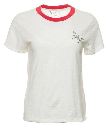 Pepe Jeans T-shirt damski Rachel, XS, kremowy