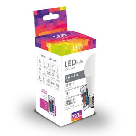 Forever LED žiarovka A60 E27 3W a 9W biela s diaľkovým ovládaním