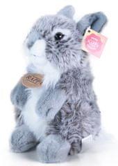 Rappa Plyšový zajíc šedý sedící, 20 cm