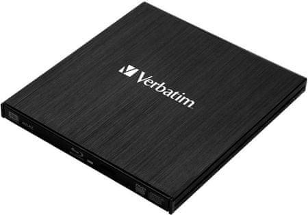 Verbatim nagrywarka Blu-ray Slimline USB, czarny (43890)