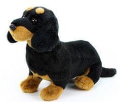 Rappa Plyšový pes jezevčík sedící, 30 cm