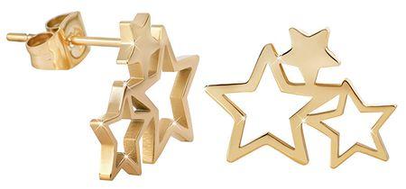 Troli Aranyozott acél fülbevaló három csillaggal