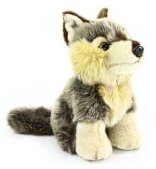Rappa Plüss ülő farkas, 30 cm