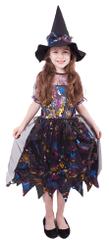 Rappa Karnevalový kostým čarodějnice barevná vel. M