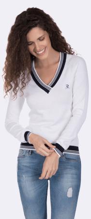 b6d31713eb02 Giorgio Di Mare dámsky sveter S biela