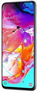 Samsung Galaxy A70, čtečka otisků prstů v displeji, odemykání obličejem, pohodlné a bezpečné odemykání.