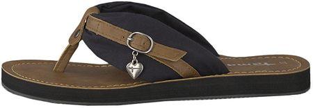Tamaris Női flip flops 1-1-27109-22-015 Black / Muscat (méret 42)