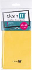 Clean IT Čisticí utěrka z mikrovlákna, velká žlutá (CL-702)