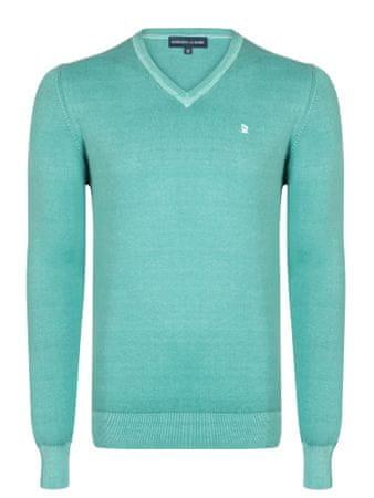 Giorgio Di Mare moški pulover, XXL, turkizen