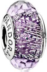 Pandora Iskrivý fialový korálku 791663 striebro 925/1000