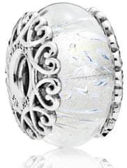 Pandora Korálik z trblietajúceho skla 797617 striebro 925/1000