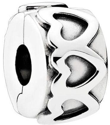 Pandora Ezüst csipesz szívvel 791978 ezüst 925/1000