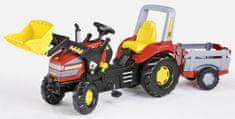 Rolly Toys traktor X-Trac z przyczepą Junior czerwony