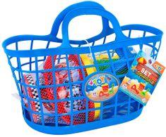Globo Set na piesok v praktickom košíčku-modrá