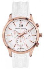 Chrono Diamond pánské hodinky 12000F Herrenuhr Okeanos Rosegold Weiss