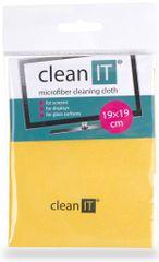 Clean IT Čisticí utěrka z mikrovlákna, malá žlutá CL-712