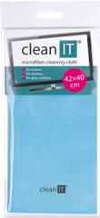 Clean IT Čisticí utěrka z mikrovlákna, velká světle modrá CL-700
