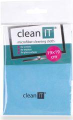 Clean IT Čisticí utěrka z mikrovlákna, malá světle modrá CL-710