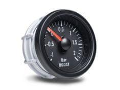 Auto Gauge palubní přístroj - tlak turba s černým podkladem