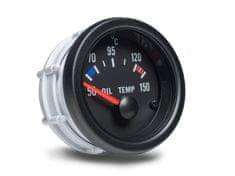 Auto Gauge palubní přístroj - teplota oleje s černým podkladem