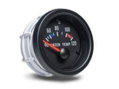 Auto Gauge palubní přístroj - teplota vody s černým podkladem