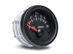 Auto Gauge palubní přístroj - tlak oleje s černým podkladem