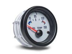 Auto Gauge palubní přístroj - teplota oleje s bílým podkladem