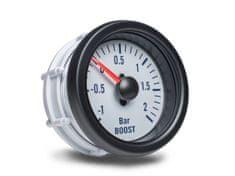 Auto Gauge palubní přístroj - tlak turba s bílým podkladem