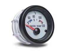 Auto Gauge palubní přístroj - teplota vody s bílým podkladem