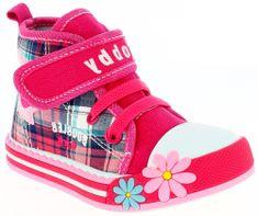 V+J lány boka tornacipő virágokkal