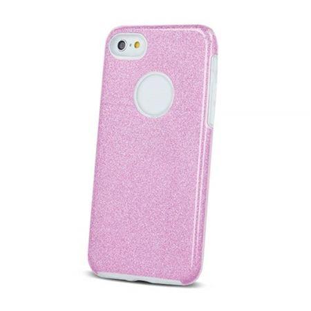 ovitek Bling za Samsung Galaxy S10 G973 roza s srebrnimi bleščicami, silikonski