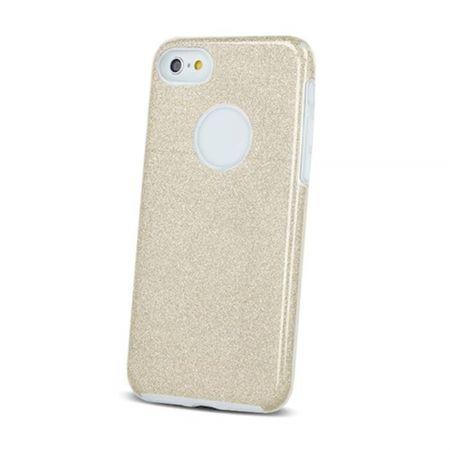 ovitek Bling za Samsung Galaxy S10 G973, zlat s srebrnimi bleščicami, silikonski