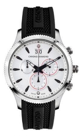 Chrono Diamond pánské hodinky 12000D Herrenuhr Okeanos Stahl