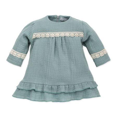 PINOKIO dívčí šaty Petit Lou 68 zelená