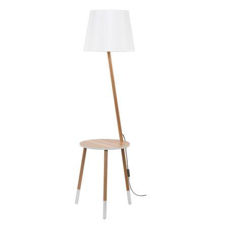 TK Lighting svetilka z mizico LAMA 2862, svetel les