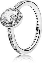 Pandora Bleščeče srebrni prstan 191017CZ srebro 925/1000