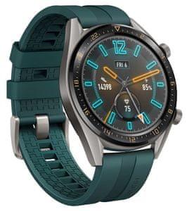 Chytré hodinky Huawei Watch GT Active, design klasických hodinek, sledování tepu, spánku, tréninkový režim, dlouhá výdrž, vodotěsné