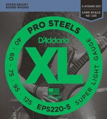 Daddario EPS220-5 Struny na päťstrunovú basgitaru