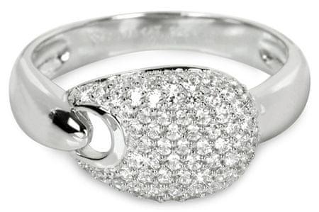 Silver Cat Ezüst gyűrű kristályokkal SC106 (áramkör 58 mm) ezüst 925/1000
