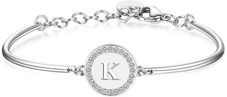 Brosway Acél Charm karkötő Letter K Chakra BHK134