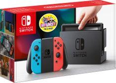 Nintendo igralna konzola Switch, rdeče/modra + igra Just Dance 2019