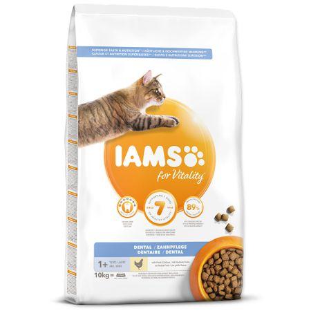IAMS karma dla kotów Cat Adult Dental Chicken, 10 kg