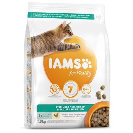 IAMS hrana za mačke Cat Adult Sterilized Chicken, 1,5 kg