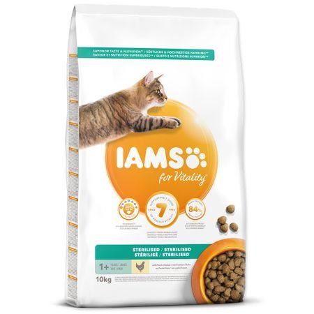 IAMS hrana za mačke Cat Adult Sterilized Chicken, 10 kg