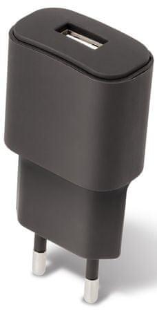Forever Cestovní dobíječ USB 2 A TC-01 s Lightning kabelem, černý GSM032678