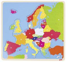 Goki Puzzle na desce - Evropa