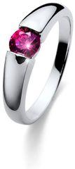Oliver Weber Beach Tender ezüst gyűrű fukszia színű kristállyal 63223 PIN ezüst 925/1000