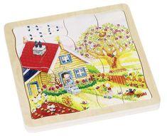 Goki Viacvrstvové puzzle - Ročné obdobia